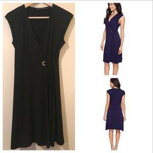 Just In🌷Ivanka Little Black Wrap Dress
